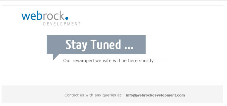 Stay tuned... our website will be here shortly